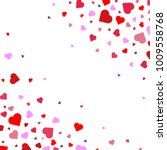 background with heart confetti... | Shutterstock .eps vector #1009558768