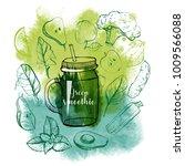 watercolor vector set of... | Shutterstock .eps vector #1009566088