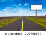 big metal advertising billboard ... | Shutterstock . vector #100956934