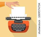 isolated vintage typewriter.... | Shutterstock .eps vector #1009574734
