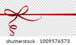 header with red ribbon  bow on... | Shutterstock .eps vector #1009576573
