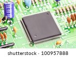 electronic chip on circuit board | Shutterstock . vector #100957888