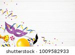carnival background flat lay.... | Shutterstock .eps vector #1009582933