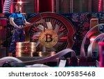 macro view of miner working for ... | Shutterstock . vector #1009585468