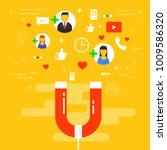 social media concept vector... | Shutterstock .eps vector #1009586320