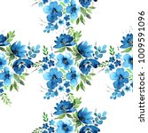 floral watercolor seamless...   Shutterstock . vector #1009591096