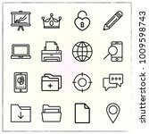 business line icons set crown... | Shutterstock .eps vector #1009598743