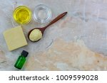 shea butter  cold pressed... | Shutterstock . vector #1009599028