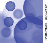 blue watercolor bubble pattern... | Shutterstock .eps vector #1009605124