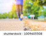 blur image of people running in ... | Shutterstock . vector #1009605508