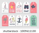 summer beach vacation tags... | Shutterstock .eps vector #1009611130