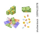 various kind of money and... | Shutterstock .eps vector #1009612078