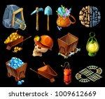 isometric mining game elemens... | Shutterstock .eps vector #1009612669