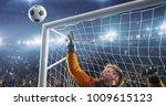 soccer goalkeeper in action on...   Shutterstock . vector #1009615123
