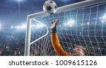 soccer goalkeeper in action on... | Shutterstock . vector #1009615126