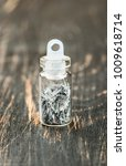 silver sequins in the bottle... | Shutterstock . vector #1009618714
