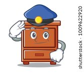 Police Wooden Drawer Character...