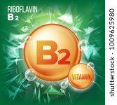 vitamin b2 riboflavin vector.... | Shutterstock .eps vector #1009625980