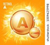 vitamin a retinol vector.... | Shutterstock .eps vector #1009625998