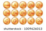 vitamin icons set vector.... | Shutterstock .eps vector #1009626013