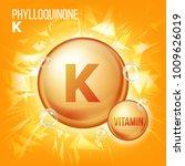 vitamin k phylloquinone vector. ... | Shutterstock .eps vector #1009626019