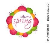 spring illustration design... | Shutterstock .eps vector #1009626130
