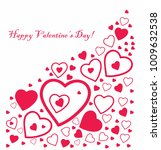 happy valentine's day card with ... | Shutterstock .eps vector #1009632538