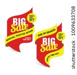 big sale banner design set with ...   Shutterstock .eps vector #1009633708