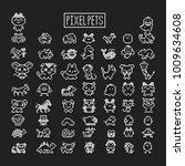 collection of pixel animals... | Shutterstock . vector #1009634608
