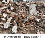 demolish building with debris... | Shutterstock . vector #1009635544