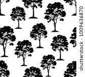 seamless pattern  maple tree ... | Shutterstock .eps vector #1009636870