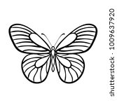 butterfly black and white... | Shutterstock .eps vector #1009637920
