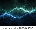blue lightning bolt  plasma... | Shutterstock . vector #1009645330