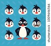 cute penguin constructor.... | Shutterstock .eps vector #1009646566
