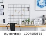 metal grid with clips and... | Shutterstock . vector #1009650598