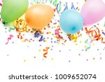 noisemakers  streamers and... | Shutterstock . vector #1009652074