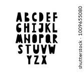 scandinavian cut bold letters... | Shutterstock .eps vector #1009655080