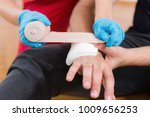first aid training   snake bite.... | Shutterstock . vector #1009656253