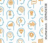 mind process seamless pattern...   Shutterstock .eps vector #1009656538