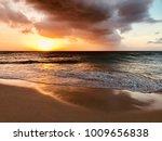 panoramic view of aruba's eagle ...   Shutterstock . vector #1009656838