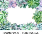 frame of green plants and... | Shutterstock . vector #1009656868