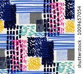 memphis seamless  pattern in...   Shutterstock .eps vector #1009657054