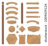 wooden boards of geometrical... | Shutterstock . vector #1009659124