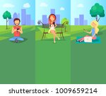 spending time at park in free... | Shutterstock . vector #1009659214