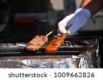 raw beef in a stick  to be... | Shutterstock . vector #1009662826