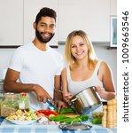 positive young interracial... | Shutterstock . vector #1009663546