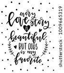 ''love story'' hand lettering... | Shutterstock .eps vector #1009665319