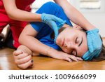 first aid training   food... | Shutterstock . vector #1009666099