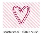 love you  symbol in vector... | Shutterstock .eps vector #1009672054