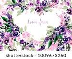 beautiful watercolor wedding... | Shutterstock . vector #1009673260